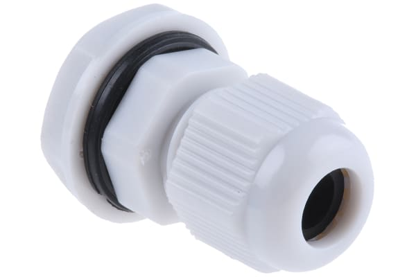 Product image for NYLON CABLE GLAND M12 GREY 3 -6.5MM