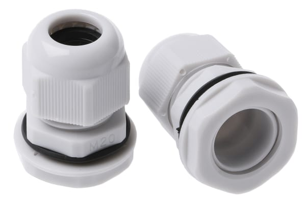 Product image for Nylon Cable Gland M20s Grey 6 - 12mm