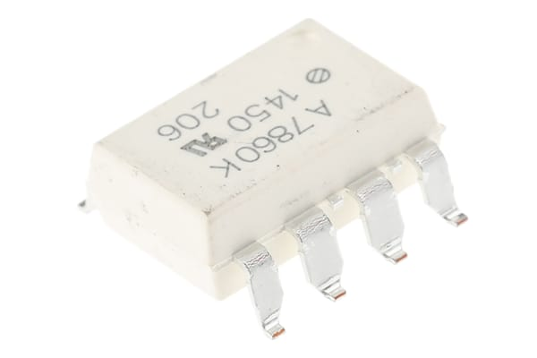 Product image for Broadcom, HCPL-7860-300E DC Input Transistor Output Optocoupler, Surface Mount, 8-Pin DIP