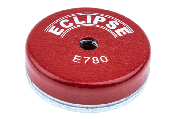 Product image for Eclipse 50mm Threaded Hole M8 Ferrite Pot Magnet, 15kg Pull
