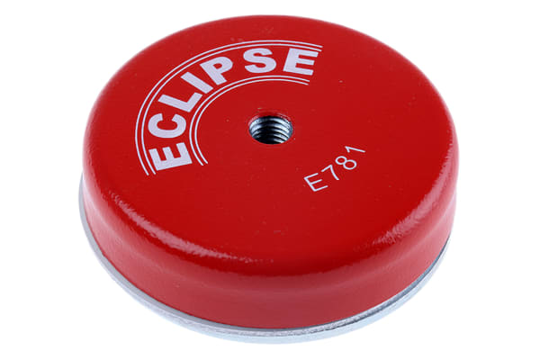 Product image for Eclipse 80mm Threaded Hole M10 Ferrite Pot Magnet, 55kg Pull