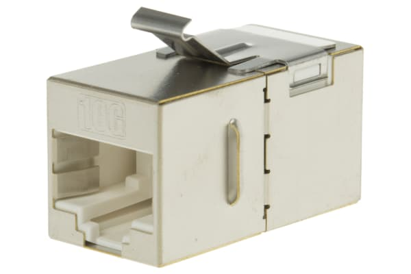 Product image for MH Connectors, MH3101 Cat6a RJ45 Coupler, 1 Port, STP