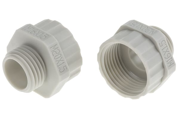 Product image for Enlarger Gland  M16x1.5 to M20x1.5 ,Grey