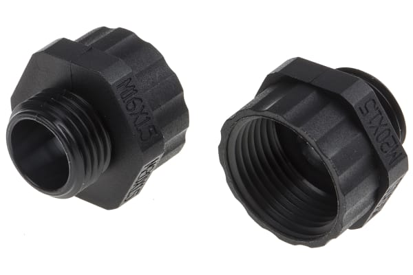Product image for Enlarger Gland  M16x1.5 to M20x1.5 Black