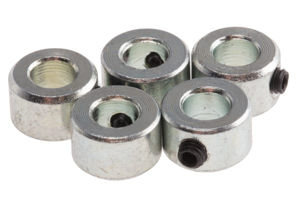 Product image for Steel Shaft Collar, One piece, Bore 4mm