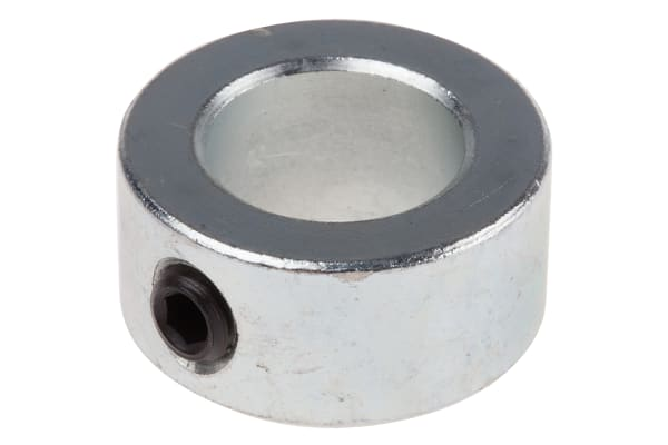 Product image for Steel Shaft Collar, One Piece, Bore 15mm