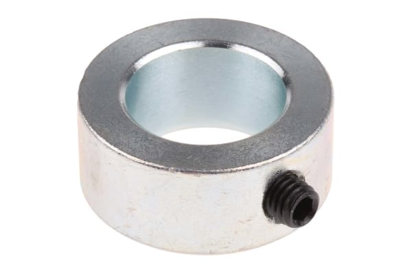 Product image for Steel Shaft Collar, One Piece, Bore 20mm