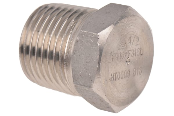 Product image for 1/2in F/Steel 316 Hex Plug Male Joint