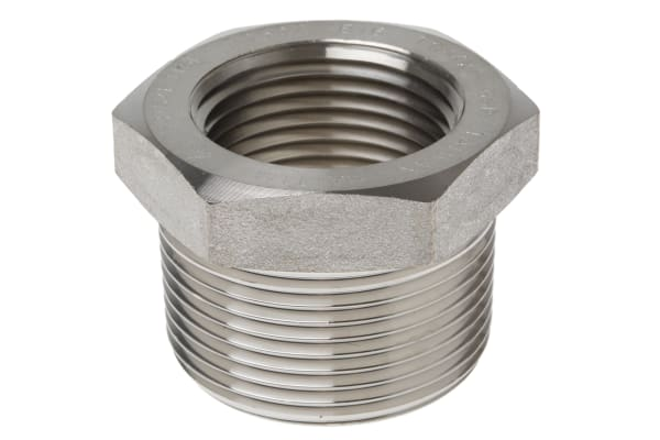 Product image for 1 1/4in F/Steel 316 Hex Bushing M/F