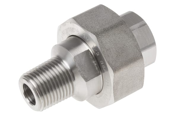 Product image for 1/2in F/Steel 316 Union M/F Joint