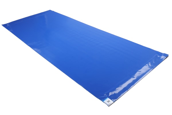 Product image for 46x114cm Blue Tacky Mats,8x30 Sheets