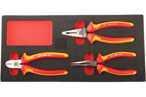 Product image for 3pc VDE Insulated Pliers Set