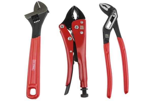 Product image for 3pc Pliers and Adjustable Wrench Set