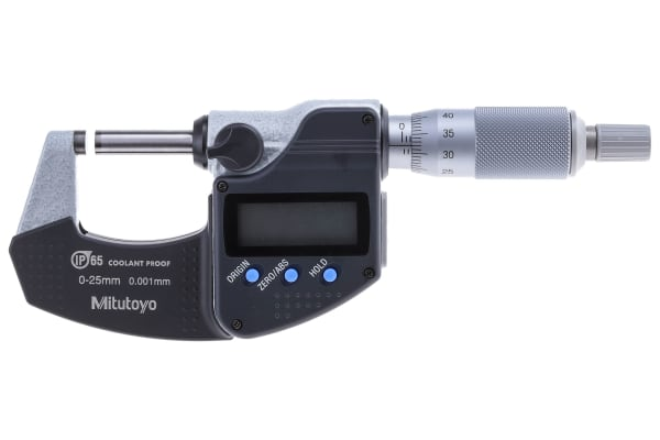 Product image for Mitutoyo 293-230-30 External Micrometer, Range 0 mm →25 mm