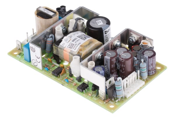 Product image for BEL POWER SOLUTIONS INC, 40W Embedded Switch Mode Power Supply SMPS, 5 V dc, ±12 V dc, Open Frame