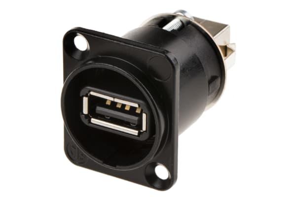 Product image for NEUTRIK NAUSB-W-B USB FEED THR IP B,XLR