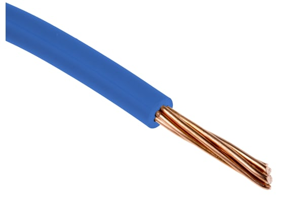Product image for 6491X / H07V-R 2.5mm Blue Cable 100m