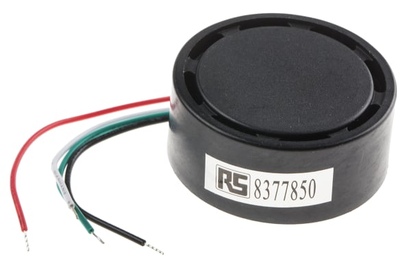 Product image for Buzzer 12Vdc 105dB multi-tone 4x80mm