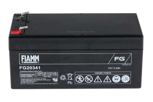 Product image for Fiamm FG20341 Lead Acid Battery - 12V, 3.4Ah