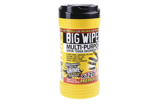 Product image for Big Wipes Wet Multi-Purpose Wipes for Multi-purpose Use, Dispenser Box of 120