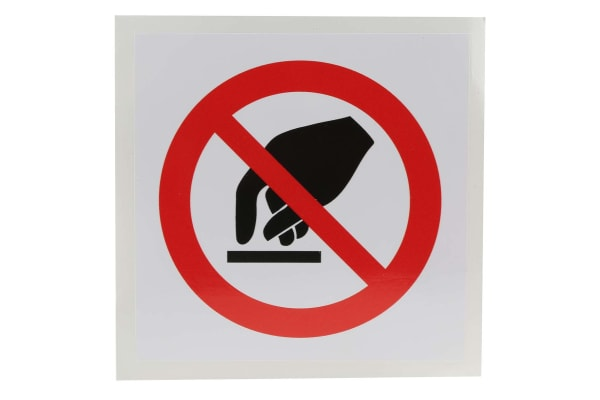 Product image for 100x100mm Vinyl Do Not Touch Sign