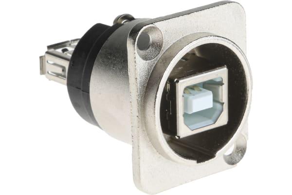 Product image for GENDER CHANGER, XLR SHELL, USB B-A SKT