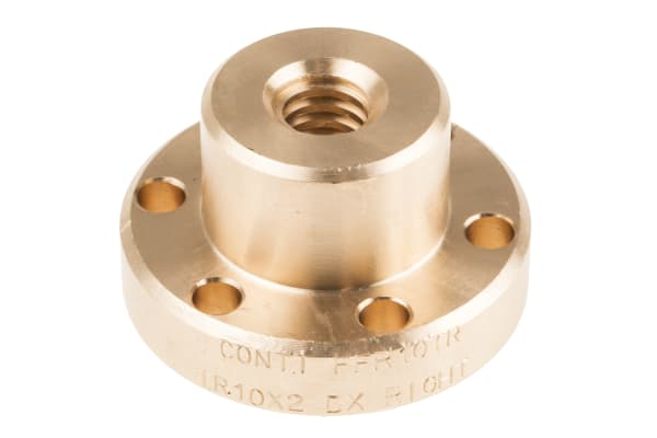 Product image for Flanged Bronze Nut for 10 X 2 Lead Screw