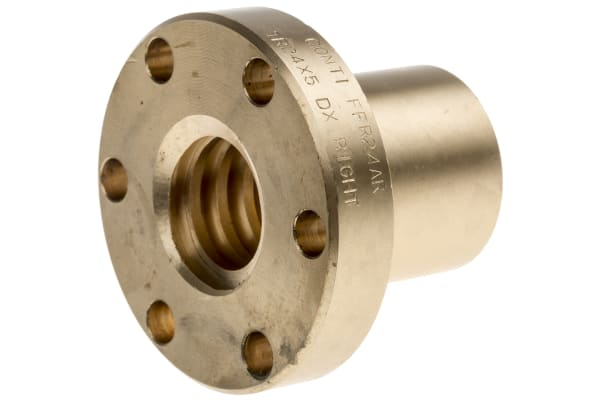 Product image for Flanged Bronze Nut for 24 X 5 Lead Screw