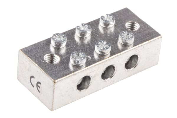 Product image for Brass Earthing Blocks 3 way