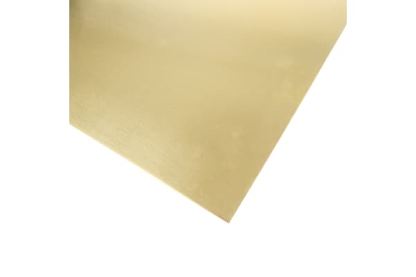 Product image for Brass Sheet 600 x 300 x 1.2mm