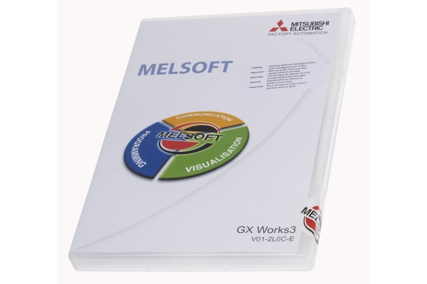 Product image for Mitsubishi PLC Programming Software for use with MELSEC iQ-F Series Programmable Controllers, MELSEC iQ-R Series