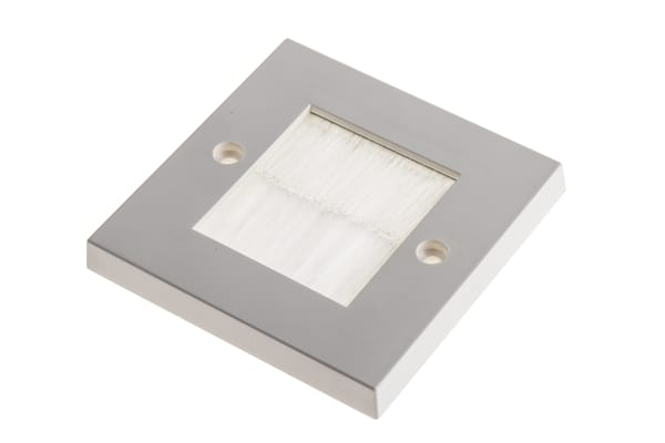 Product image for BS single gang brush plate white