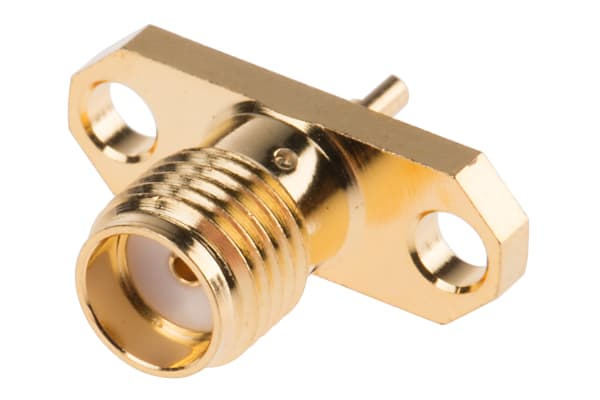 Product image for RF coaxial SMA flanged jack receptacle