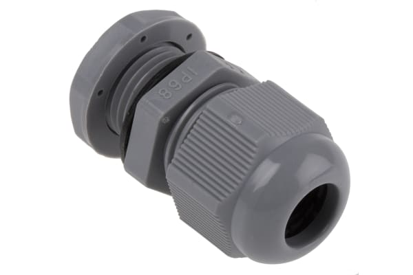 Product image for Nylon Cable Gland M16 Dark Grey 5- 10mm