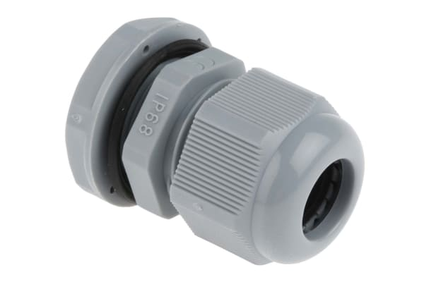 Product image for Nylon Cable Gland M20s Dark Grey 6 -12mm