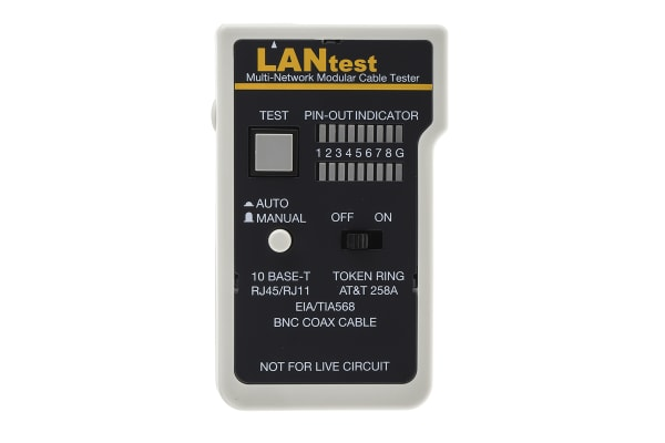 Product image for Cinch Connectors Cable Tester BNC, RJ11, RJ45