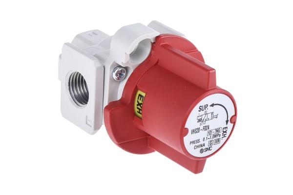 Product image for SMC Locking Shut-Off Valve Pneumatic Manual Control Valve VHS20 Series
