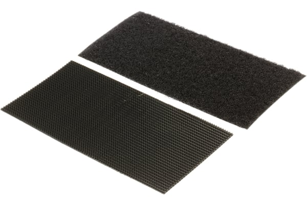 Product image for Black HD stick on strip,100x50mm