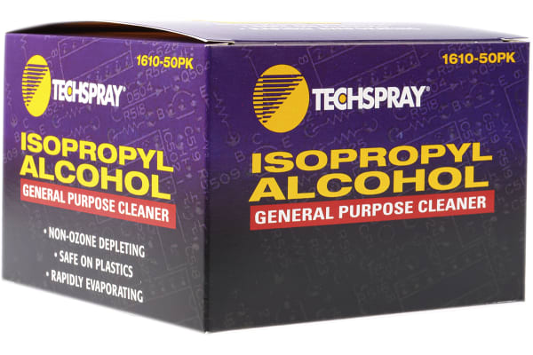 Product image for Techspray 50 pcs Box Isopropyl Alcohol (IPA) for Various Applications