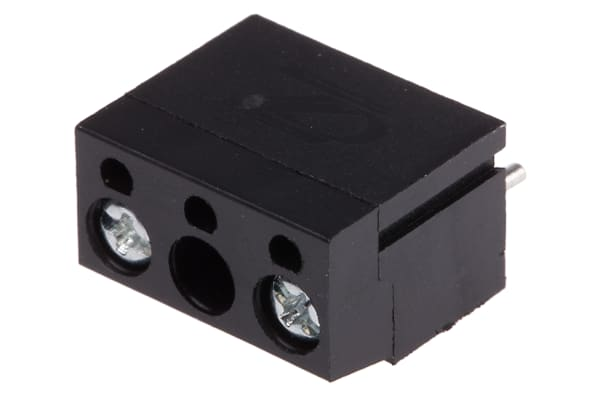 Product image for 10mm PCB terminal block, std profile, 2P