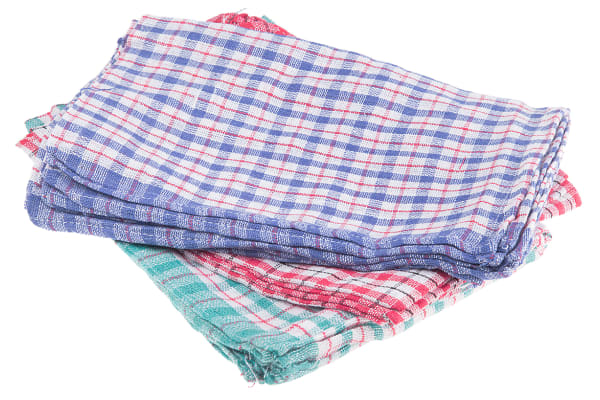 Product image for Multi-Coloured Tea Towels, Pack of 10