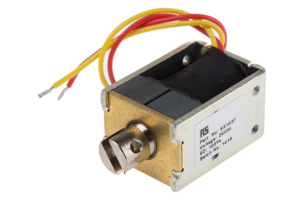 Product image for HIGH FORCE LATCHING PULL TYPE 24VDC 10W