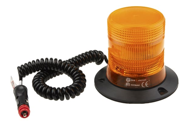 Product image for LED Beacon, Amber, Magnetic, 10-30Vdc