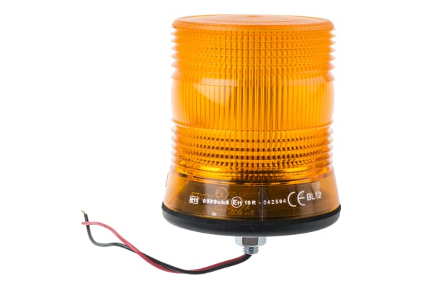 Product image for LED Beacon, Amber, 1 Point, 10-30Vdc