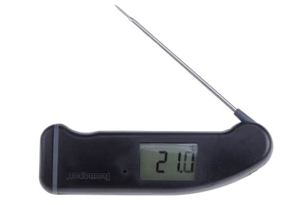 Product image for Instruments Direct Wired Digital Thermometer, for Kitchen Appliance Use