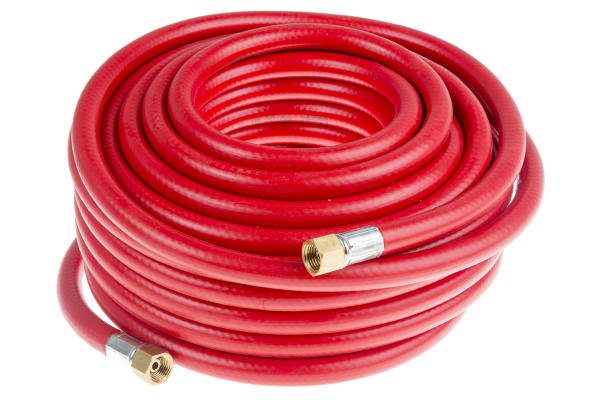 """Product image for Air Hose, 6mm ID, 1/4"""" BSPT Unions, 15m"""