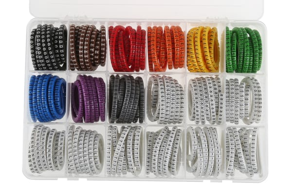 Product image for PVC Cable Marker Kit  0.75-3.5 mm2 cable