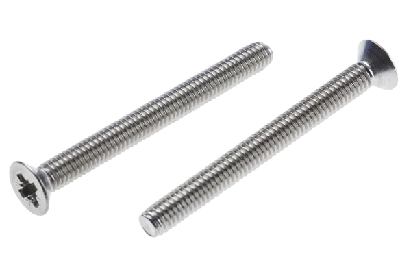 Product image for A2 s/steel cross csk head screw,M4x40mm