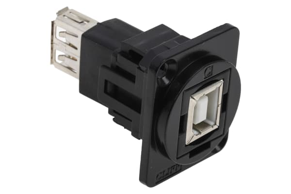 Product image for FT BLK METAL USB 2.0 B-A CSK XLR