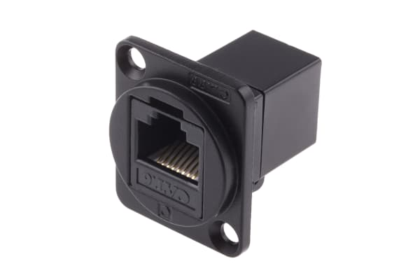 Product image for FT BLK METAL CAT6 RJ45 CSK XLR